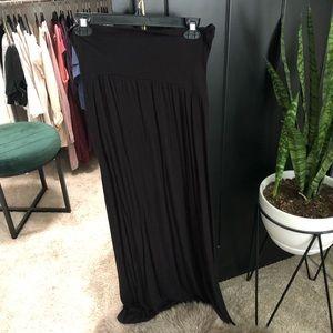 Motherhood maternity black maxi skirt